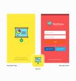 company presentation chart splash screen and vector image vector image