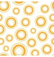 Cute seamless background with abstract circles vector image vector image