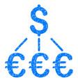 dollar euro links grunge icon vector image vector image