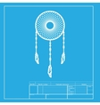 Dream catcher sign White section of icon on vector image