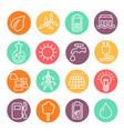 eco energy and electricity icon set vector image vector image