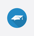 education Flat Blue Simple Icon with long shadow vector image vector image
