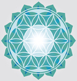 Flower of Life blue design vector image vector image