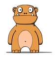 Funny cartoon bear monster vector image