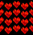 geometrical hearts made of triangle seamless vector image vector image