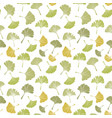 ginkgo biloba leaf tablecloth seamless pattern vector image vector image