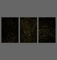 gold glitter texture isolated on black vector image vector image