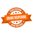 grand reopening ribbon grand reopening round vector image vector image