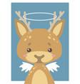 guardian angel deer vector image vector image