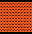 halloween polka dot background orange and vector image