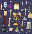 hanukkah menorah candles candlelight flame vector image