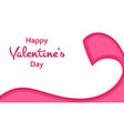 happy valentines day words with ribbon on white vector image vector image