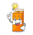 have an idea package juice mascot cartoon vector image vector image