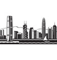 hong kong skyline by day vector image