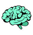 human brain icon icon cartoon vector image vector image