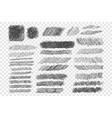 ink pen scribble set vector image