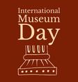 international museum day roman column terracotta vector image vector image