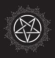 inverted pentagram dot work ancient pagan symbol vector image