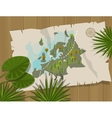 jungle map europe cartoon adventure vector image vector image
