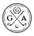 label golf logo golf championship vector image vector image