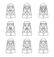Line Art Avatars Arab Businessman Design Character vector image vector image