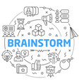 line flat circle brainstorm vector image