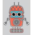 llustration of a vintage robot vector image vector image