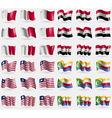 Malta Syria Liberia Comoros Set of 36 flags of the vector image vector image