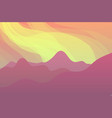nature landscape with mountains vector image vector image