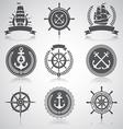 Nautical set 5 vector image