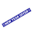 new year offer scratched rectangle stamp seal with vector image vector image