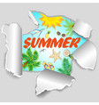 on a summer holiday vector image vector image