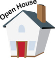 Open House vector image vector image