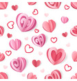 paper heart pattern seamless romantic texture for vector image