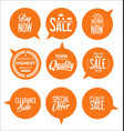 paper sale stickers collection 4 vector image vector image