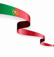 portuguese flag wavy abstract background vector image