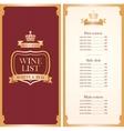 Royal wine list vector image