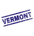 scratched textured vermont stamp seal vector image
