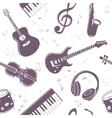 seamless musical instruments vector image vector image