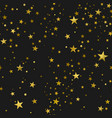 seamless pattern gold stars vector image