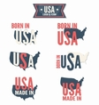 set made in usa and born in usa vector image vector image