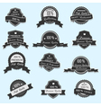 Set of 12 Premium Quality labels vector image vector image