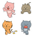set of cat running vector image