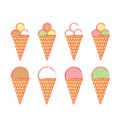 Set of ice creams