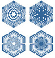 set of simple geometric design elements blue vector image vector image