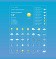 set weather icons all icons for weather vector image vector image