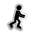 skate extreme sport icon vector image vector image