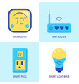 smart home automation icons set in flat style vector image