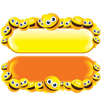 smileys banners vector image vector image