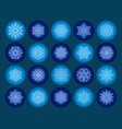 snowflake season nature winter snow symbol frozen vector image vector image